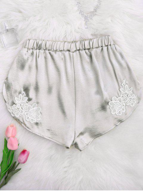 online Applique Satin Dolphin Sleep Shorts - FROST L Mobile