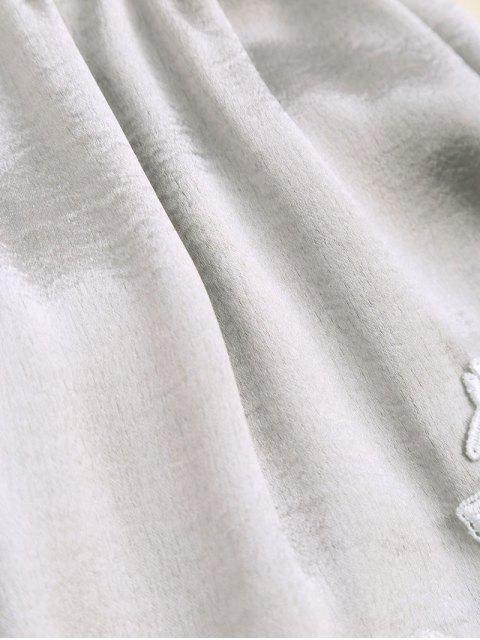 hot Applique Satin Dolphin Sleep Shorts - FROST S Mobile