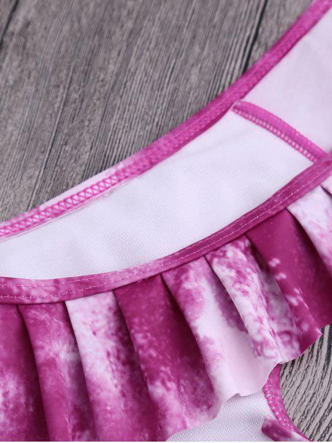 Bikini à cravate avec volants - Violet Clair L Mobile