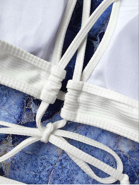 Ensemble de bikini à enveloppe de serrure - Blanc S Mobile