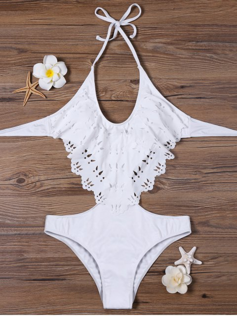 outfit Halter Backless Padded Swimwear - OFF-WHITE XL Mobile