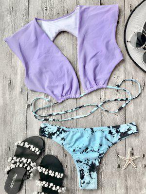 Pantalones De Bikini Y Pantalones De Mezclilla - Púrpura L