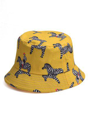 Karikatur Zebra Muster Eimer Hut