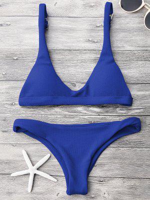 Ensemble de bikini paddé col U taille basse