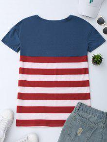 M De Patri Cu Camiseta Americana La 243;tica Bandera Del q1xR8Aa