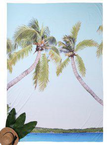 Rectangle D'impression Tropicale Beach Throw - Bleu