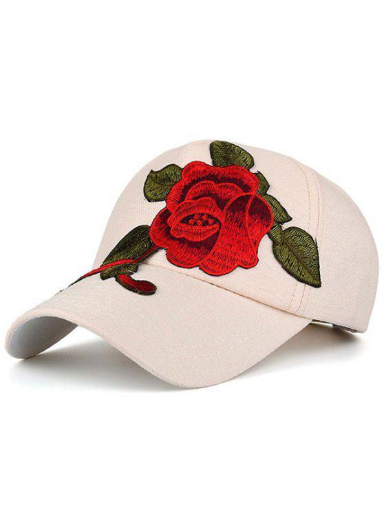 مبهرج التطريز قبعة بيسبول - أبيض فاتح