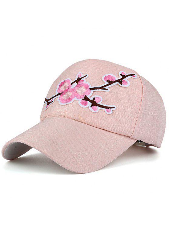 المزهرة فرع التطريز قبعة بيسبول - زهري