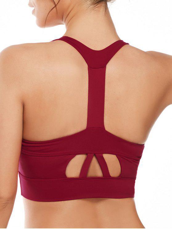 حمالات الصدرية ذو فتحات - أحمر L