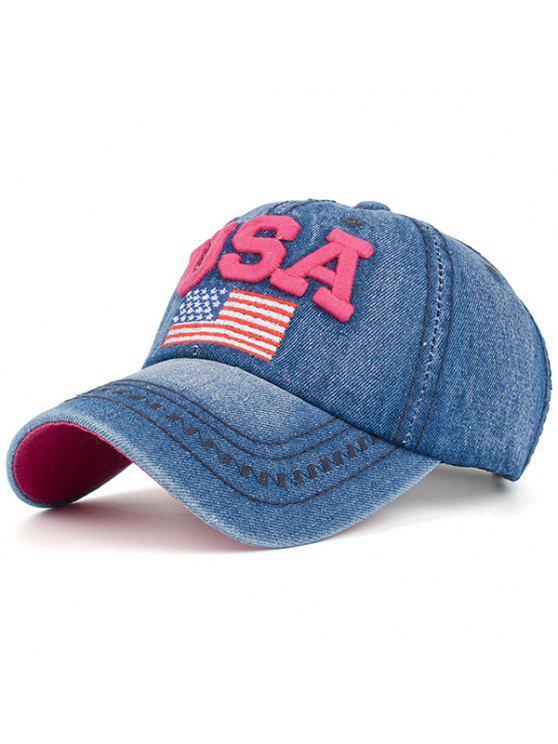 قبعة بيسبول مزينة بتطريز علم أمريكا - وظيفة محترمة