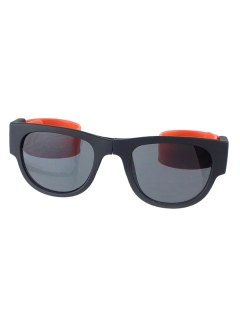 Flexible Leg Anti UV Folding Wristband Sunglasses With Box - Orange