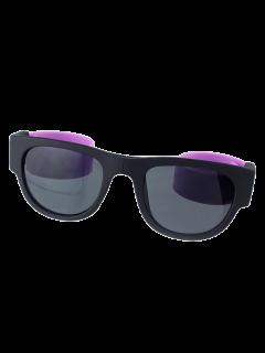 Pierna Flexible Gafas De Sol Anti-plegable De Pulsera UV Con Caja - Púrpura
