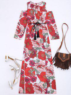 Robe Maxi D'épaule Froid Floral - Floral S