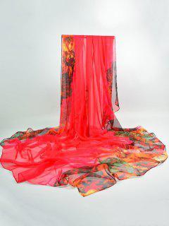 Lightsome Color Block Gossamer Shawl Scarf - Tutti Frutti