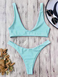 High Cut Bikini Set - Turqoise L