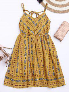 Argyle Cami Chiffon Sundress - Yellow