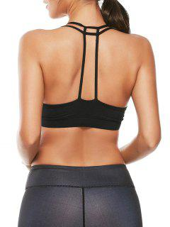 Caged Strappy Sports Sujetador Acolchado - Negro L