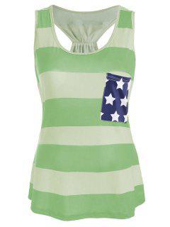 Vestimenta Patriótica De Bandera Americana Patriotic  - Color De Celadon 2xl
