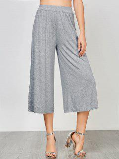 High Waisted Ninth Palazzo Pants - Gray Xl