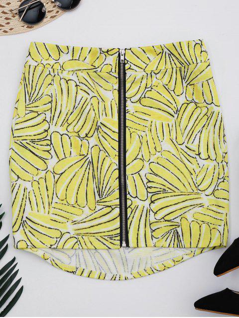 Jupe A-ligne zippée haut imprimée - Floral S Mobile