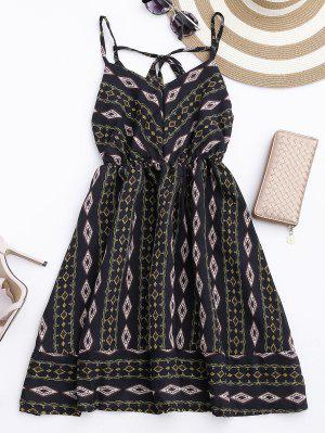 Argyle Cami Chiffon Sundress - Black