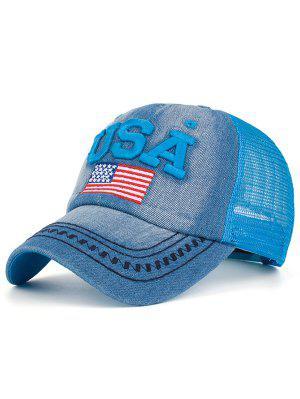 Chapeau de baseball brodé en maille brodé aux États-Unis