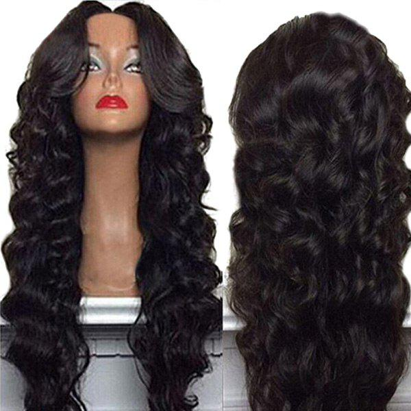 Long Center Part Shaggy Body Wave Synthetic Wig 213410001