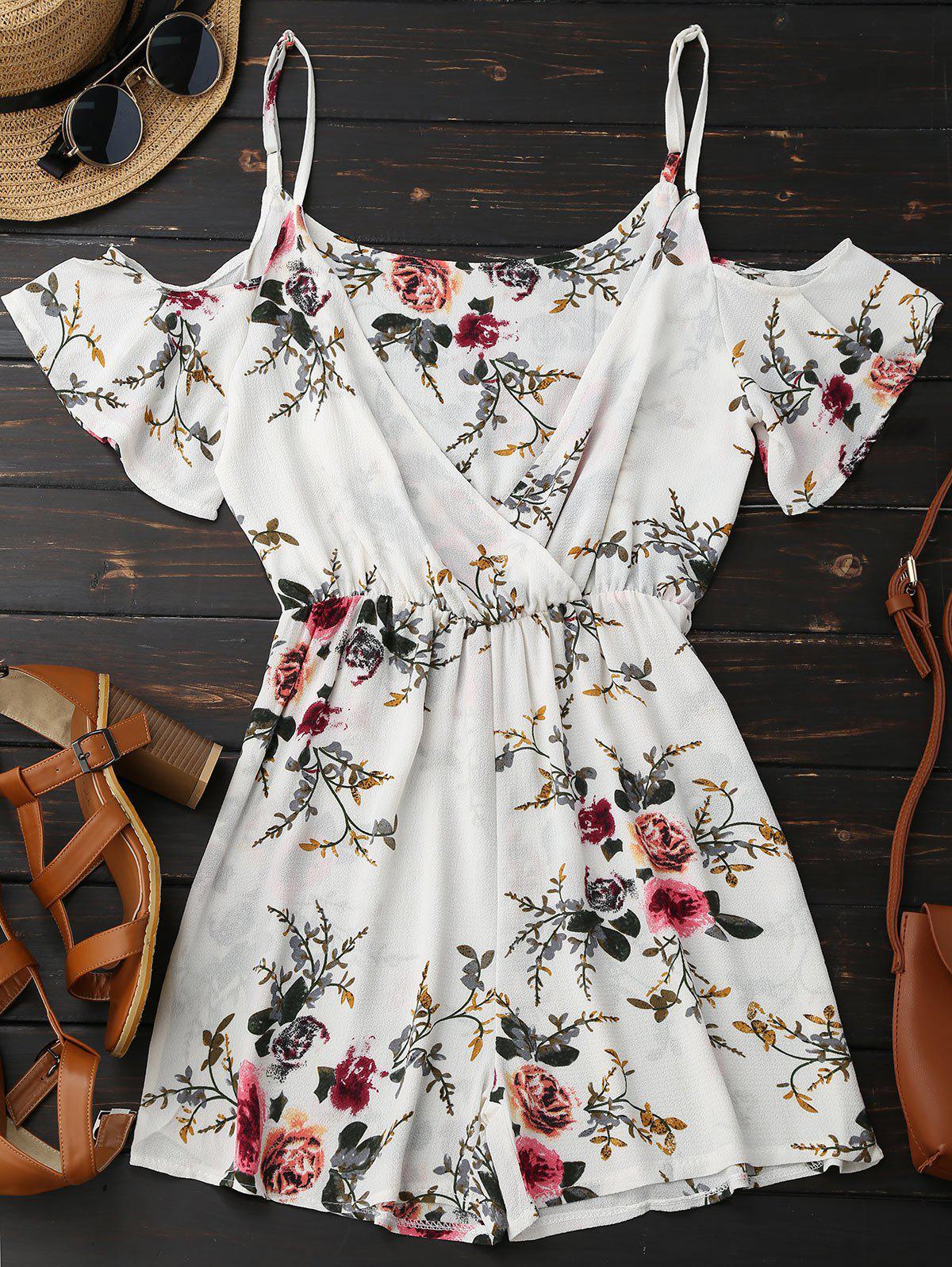 Cami Floral Plunge Romper 213291604