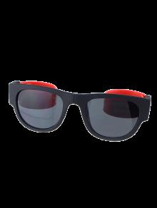 Pierna Flexible Gafas De Sol Anti-plegable De Pulsera UV Con Caja - Rojo