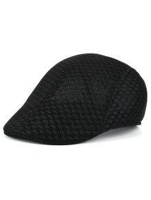 الجوف خارج شبكة تنفس قبعة نيوزبوي - أسود