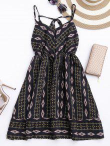 فستان الشمس أرجيل كامي الشيفون - أسود