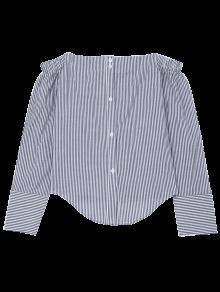 2xl Arco De La Hombro Raya Del Rayado Camisa Atado xqf867