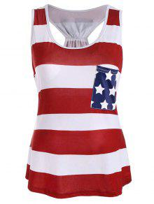وطني، راسيرباك، حوض، ب، العلم الأمريكي، برينت - أحمر فاتح 2xl