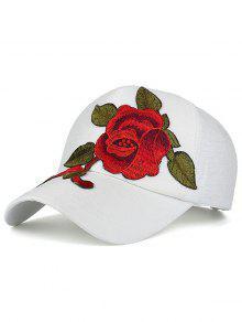 مبهرج التطريز قبعة بيسبول - أبيض