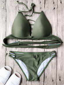 Ensemble De Bikini à Soutient-gorge Paddé - Vert Armée Xl