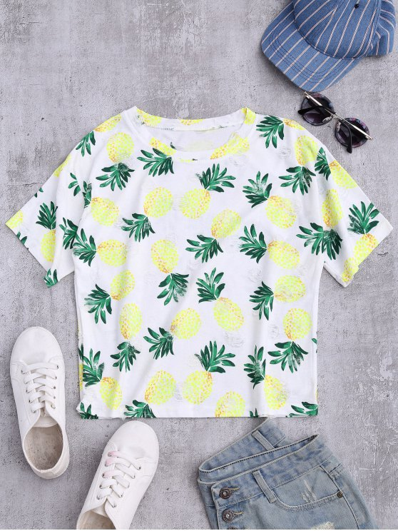 fashion Distressed Pineapple Top - COLORMIX ONE SIZE
