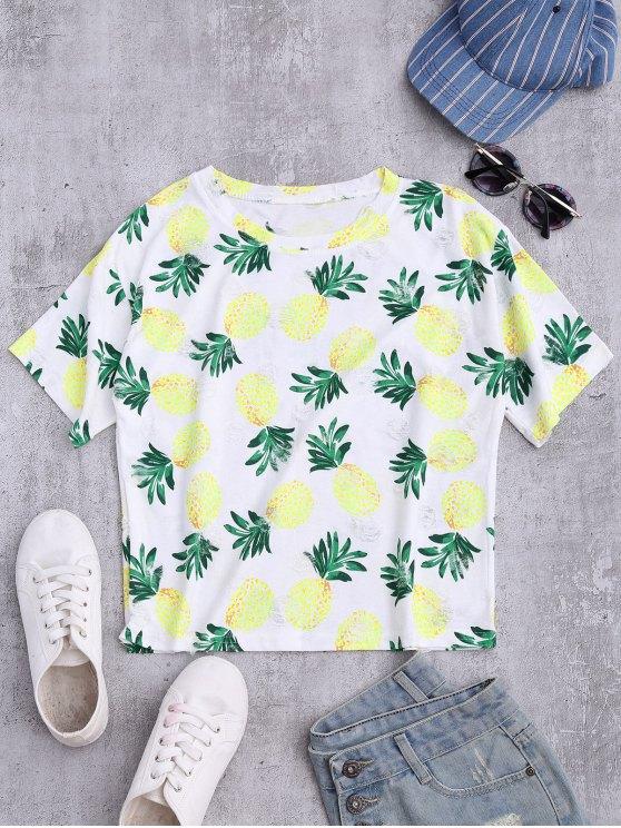 Top élimé imprimé ananas - Multicolore TAILLE MOYENNE
