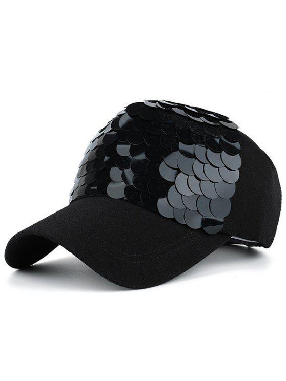 طرفة السمك الأسماك مقياس تصميم قبعة بيسبول - الأسود الكامل
