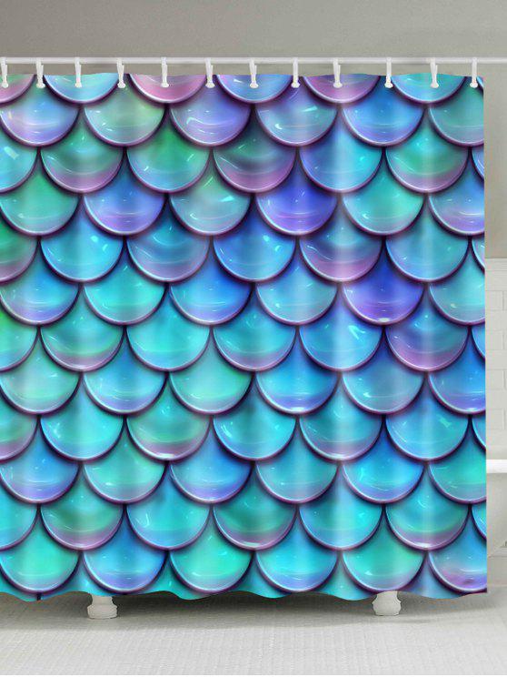 حورية البحر مقياس الطباعة ماء حمام دش الستار - البحيرة الزرقاء W71 بوصة * L71 بوصة