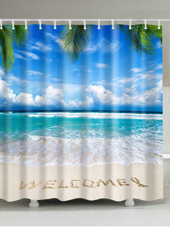شاطئ ترحيب ماء حمام دش ستارة - أزرق W71inch*L79inch