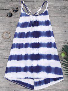 Cami Flowy Dress With Stripes - Stripe M