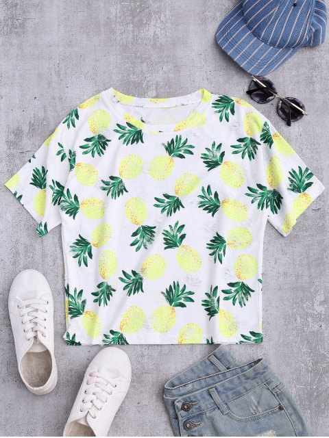 fashion Distressed Pineapple Top - COLORMIX ONE SIZE Mobile