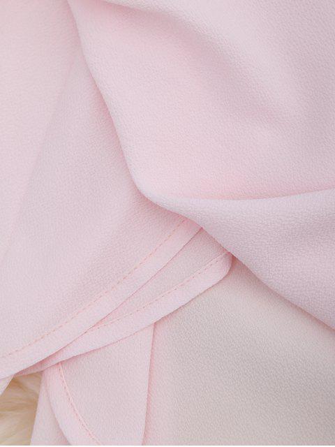 Combishorts en mousseline de soie à épaules tombantes avec lacet à la taille - ROSE PÂLE L Mobile