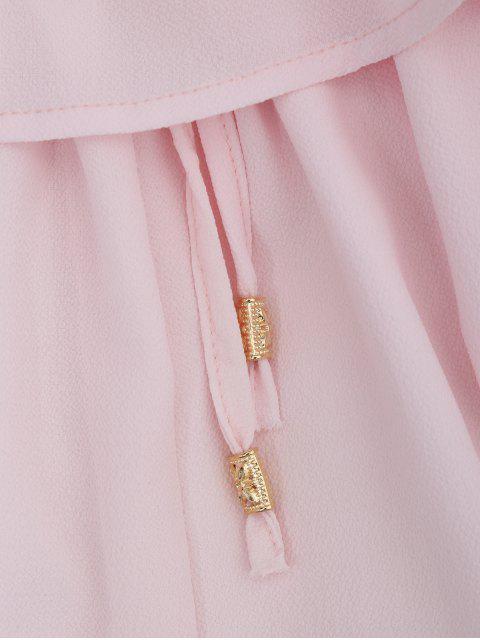 Combishorts en mousseline de soie à épaules tombantes avec lacet à la taille - ROSE PÂLE S Mobile