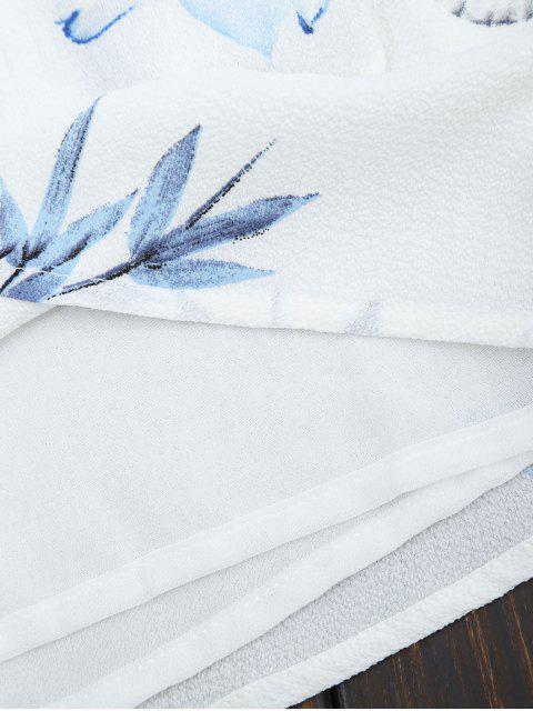 Combishorts tube imprimés fleur avec superposition - Blanc S Mobile