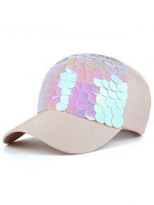 طرفة السمك الأسماك مقياس تصميم قبعة بيسبول - اللؤلؤ وردي فاتح