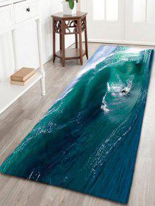 التزحلق الفانيلا امتصاص الماء الحمام البساط - أزرق أخضر