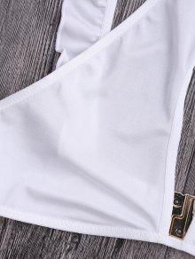 Corte S Volantes Recortado Recortado Blanco zw0q0U58