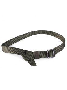 مستطيل معدني مشبك قماش حزام - الجيش الأخضر