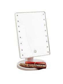 شاشة تعمل باللمس قابل للتعديل ضوء 16 المصابيح سطح المكتب مرآة ماكياج - أبيض